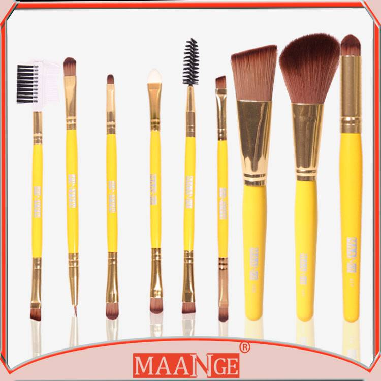 MAANGE New style fashional design 9pcs makeup brush