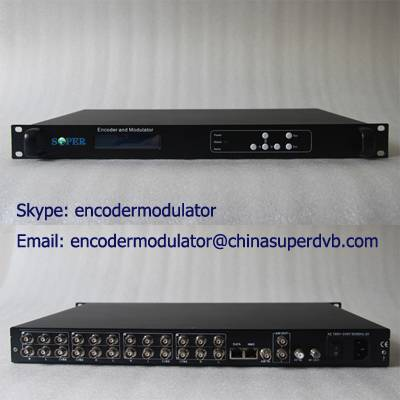 8xCVBS MPEG-2/H.264 Encoder Modulator CS-60801C Series Digital TV broadcasting equipment