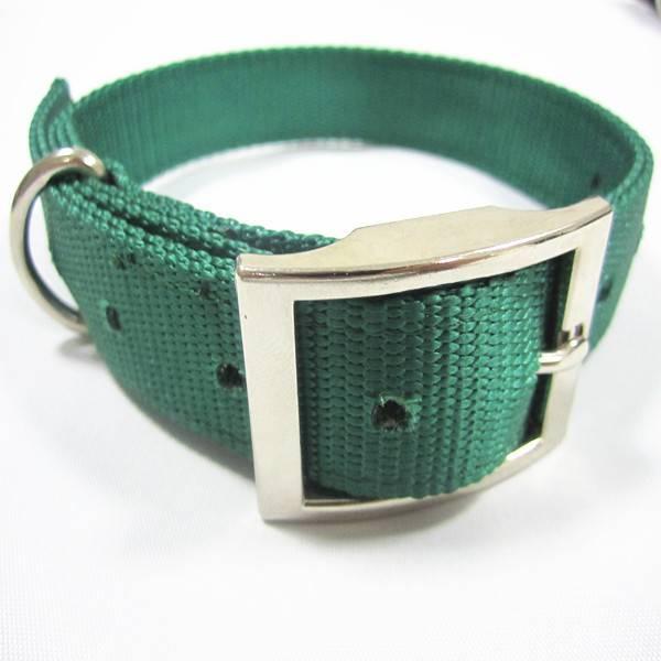 Double-layer Nylon dog collar with zinc alloy buckle