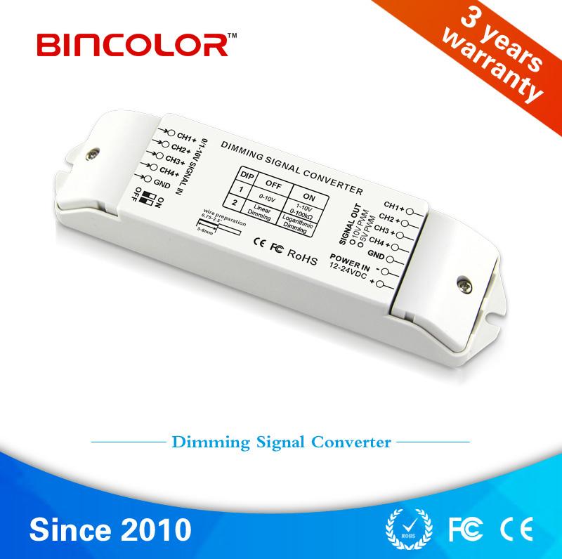 BC-334-PWM DC 12volt 24volt 0-10V to PWM5V PWM10V led dimming signal converter