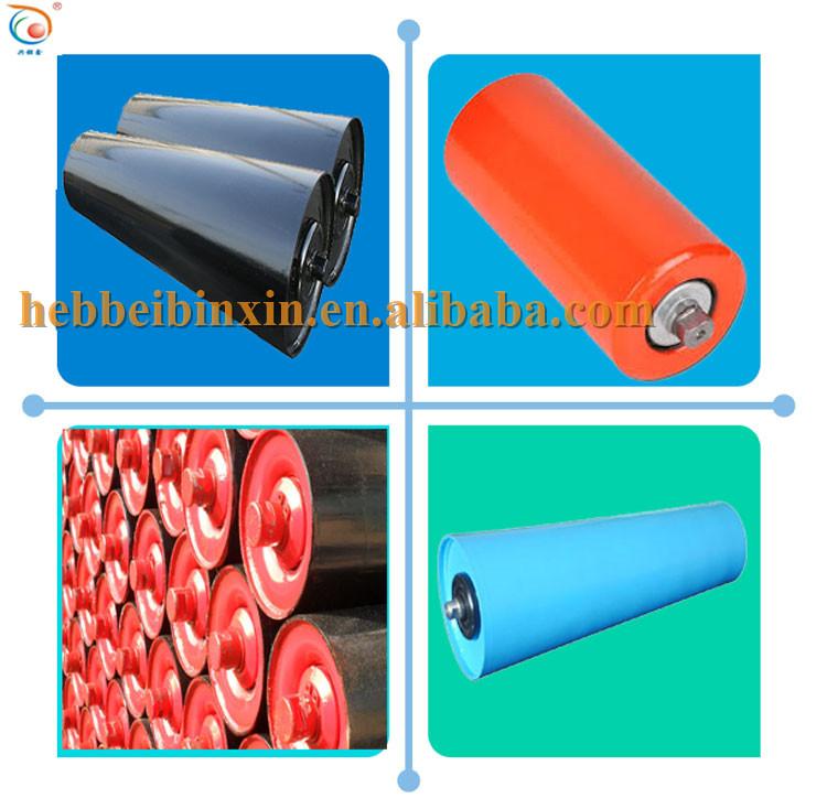 60-219 mm dia carrier trough steel gravity conveyor belt roller idler