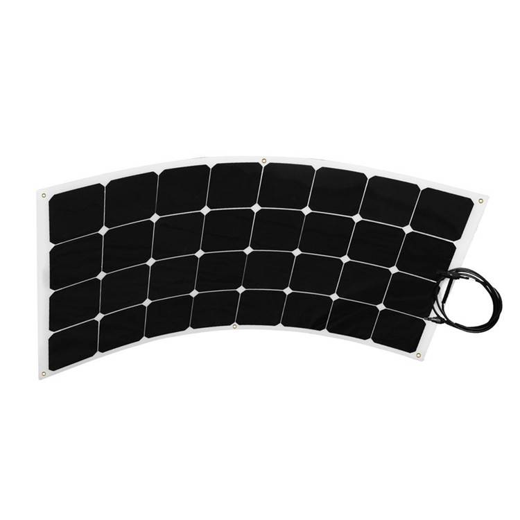 Quality and competitive price semi flexible solar panel 100watt