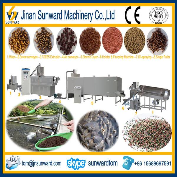 Floating Fish Feed Processing Line Machinery