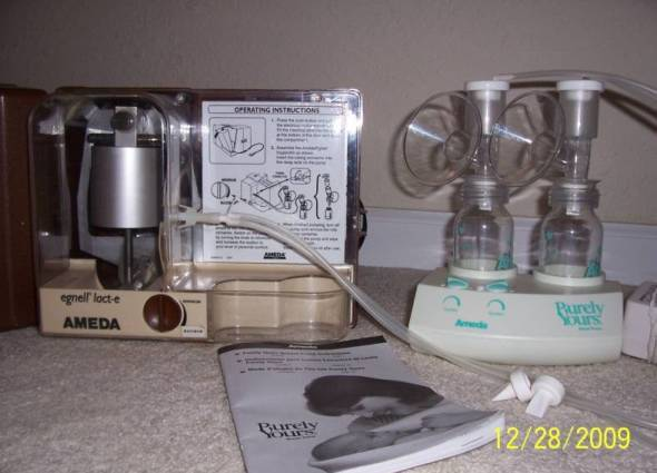 Ameda Lact-E Hospital grade breast pump & purely yours
