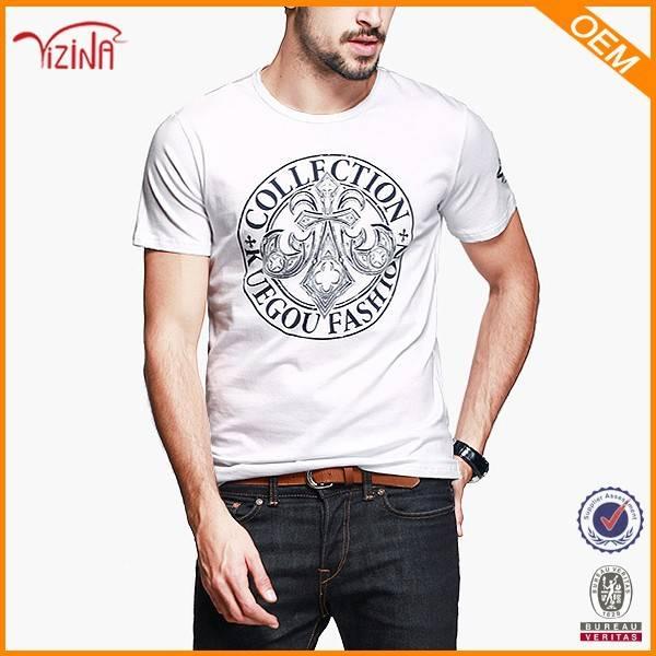 Custom Logo Print White T Shirt