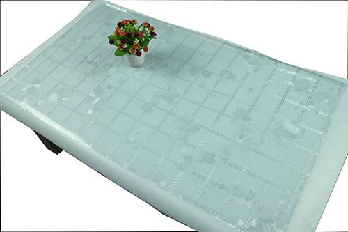 PVC Crystal Embossing Best hot sale in Southeast Asia Tablecloth