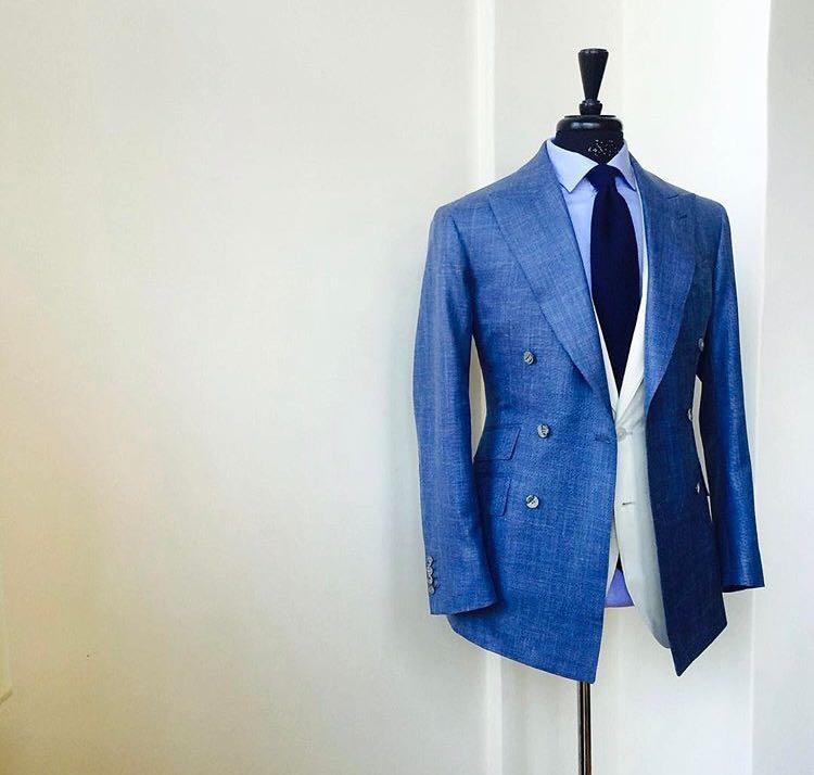 Newest design high quality best price blue colour men suits fashion