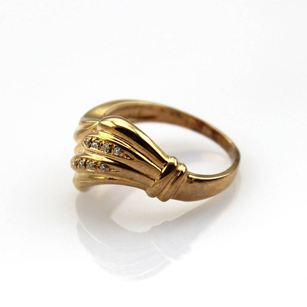 925 Silver Ring with 18K Rose Gold Plated