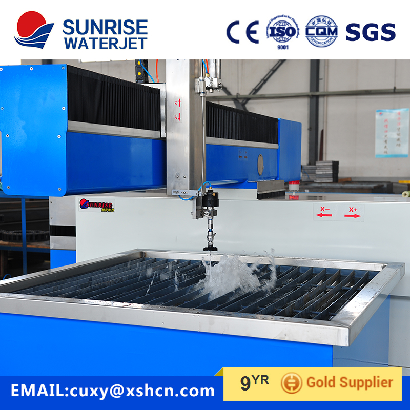 water jet cutting machine for stainless steel , carban steel