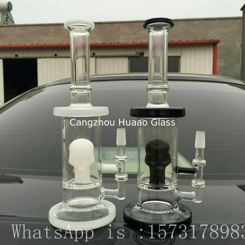 2017 Water pipe S style Big glass bongs thickness Glassbong with tobacco smoking heavy glass pipe