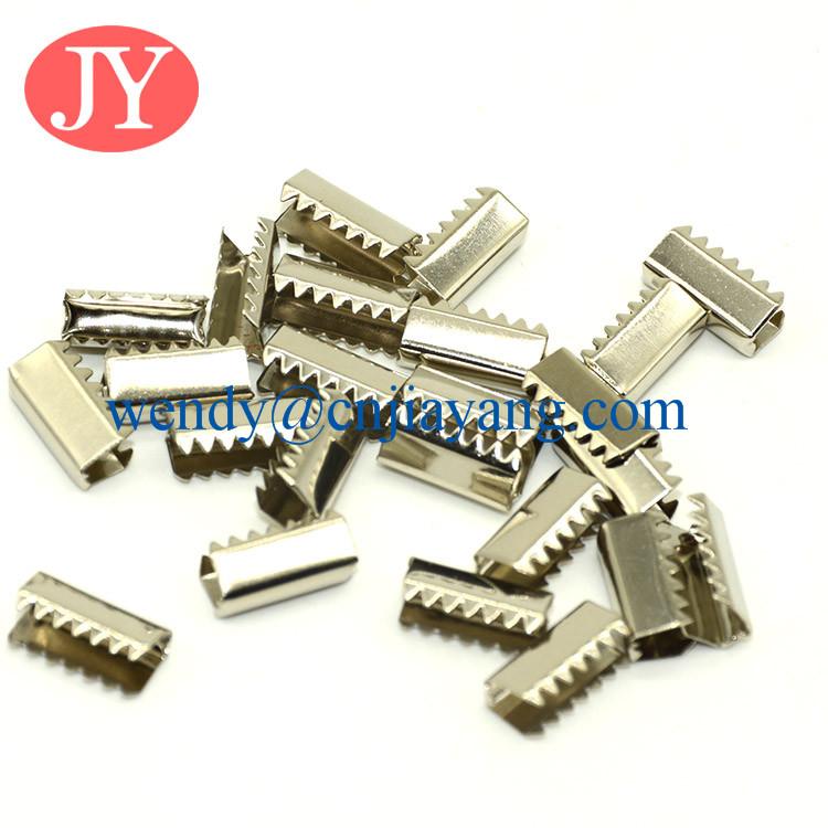 Wholesale price easy assemble band lanyard metal crimp