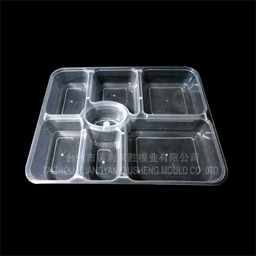 multi-grid transparent takeaway boxes container plastic mould