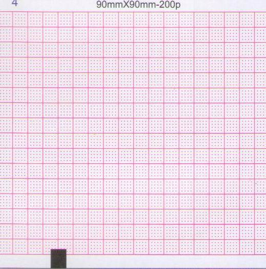 Three-Conduct Electrocardiograph Paper-90mmX90mm-200P