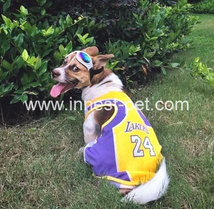 Pet product football team dog tshirt, dog sports clothes