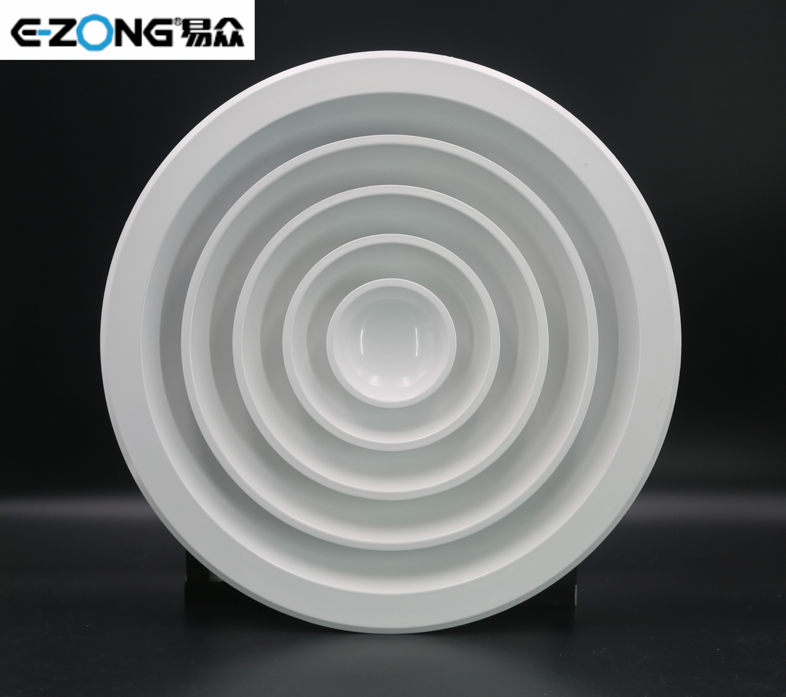 Round ceiling diffuser with or without damper