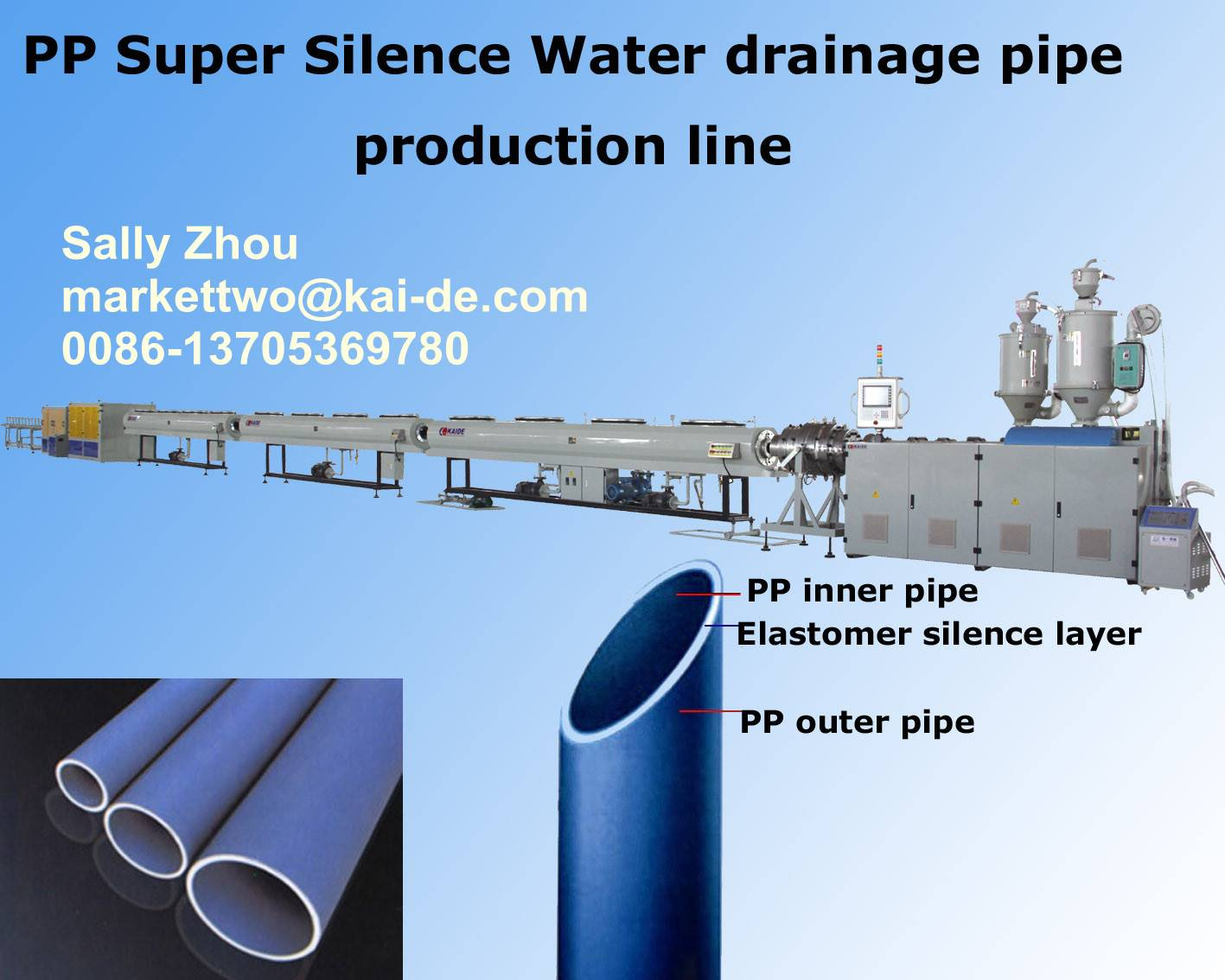 Ultra silence PP TUBE making machine