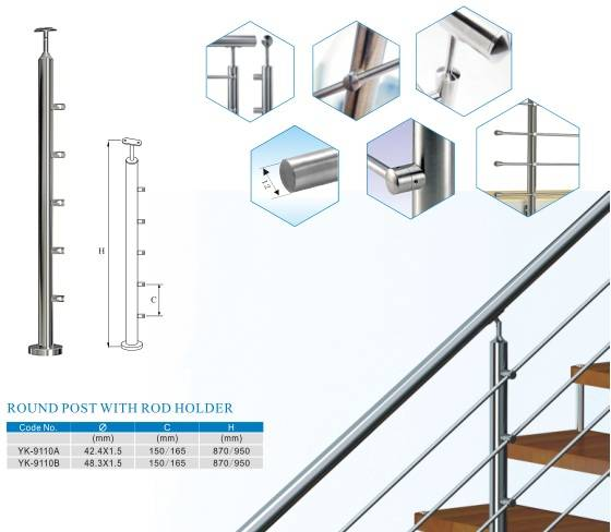 stainless steel rod baluster and balustrade