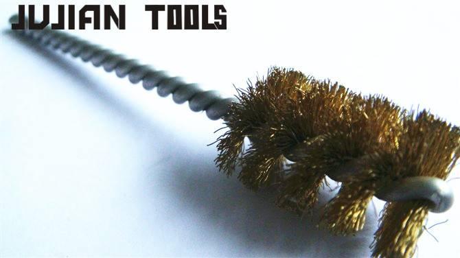 Tube brush polishing brush brass wire brush