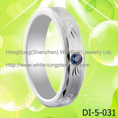 White Gold Plated Jewelry Ring women's Tungsten Ring