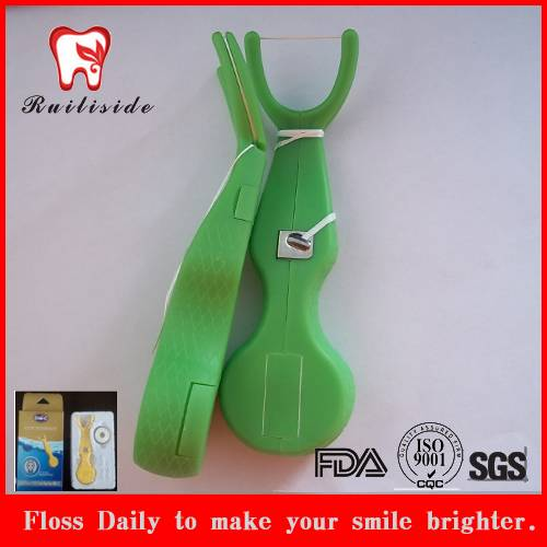 2016 newly design colorful plastic dental floss holder