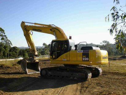used excavator KOMATSU PC-220