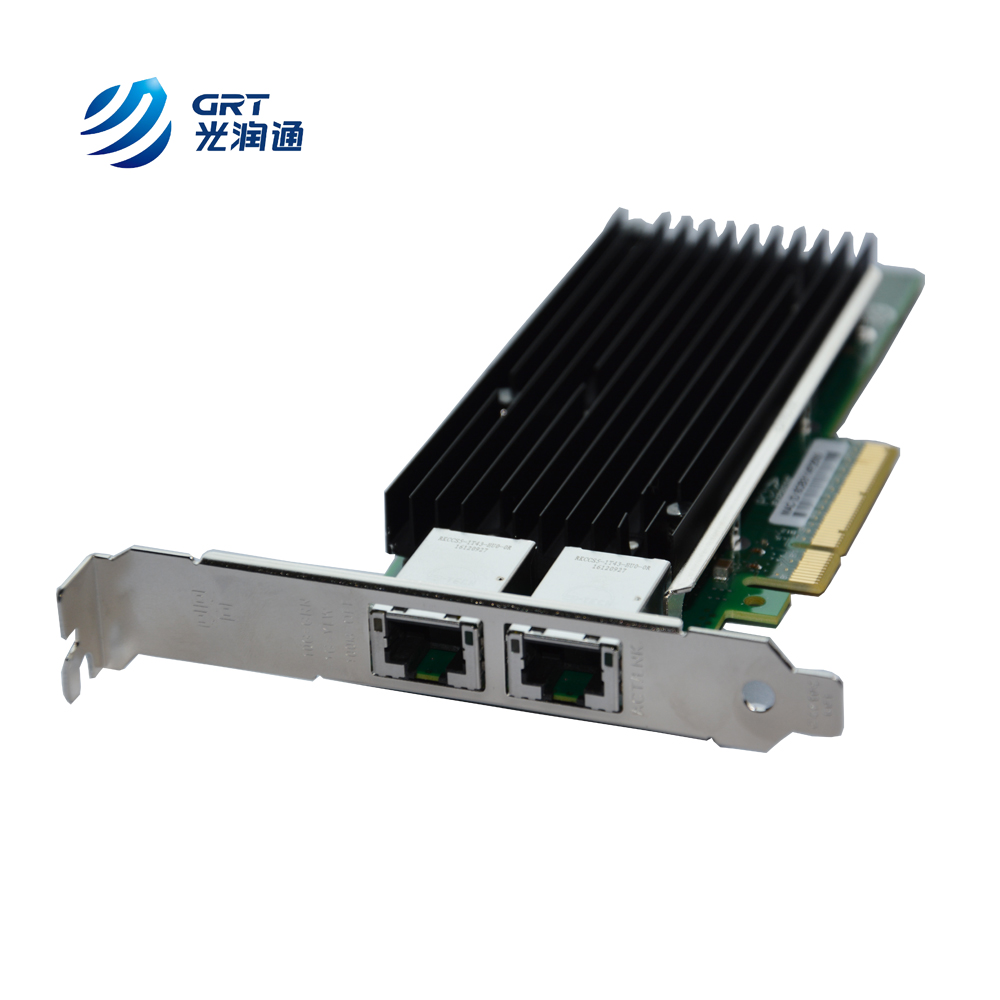 GRT Latest PCIe NIC 2 Port Copper RJ45 Network Interface Card for servers