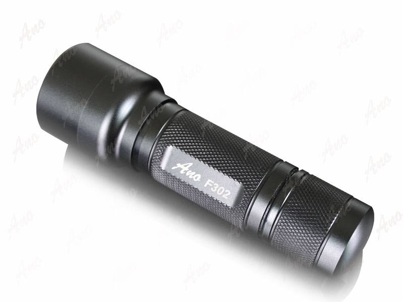 Ano F302 3w cree r2 focusable scuba diving flashlight led