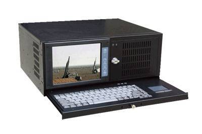 4u rackmount 8 inches industrial LCD workstation IEC-808E