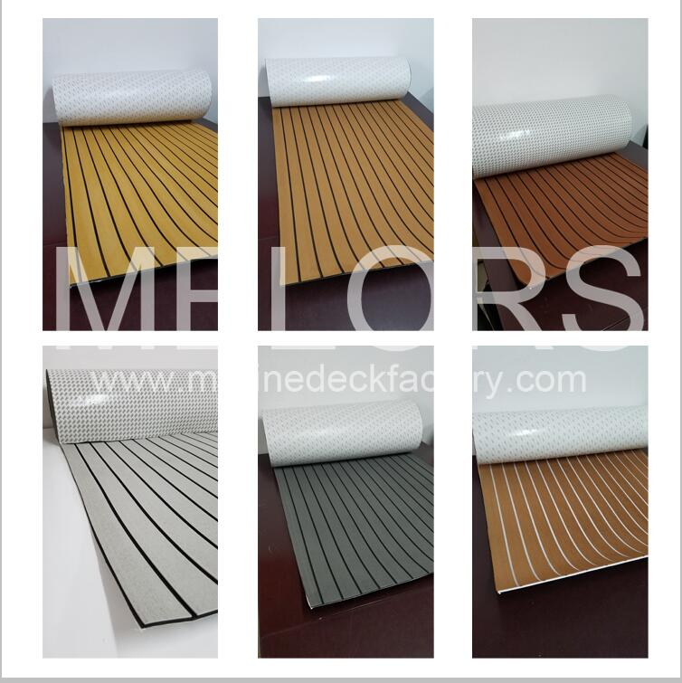 Melors EVA Marine Boat Deck Material Safety Faux Teak Decking Sheet