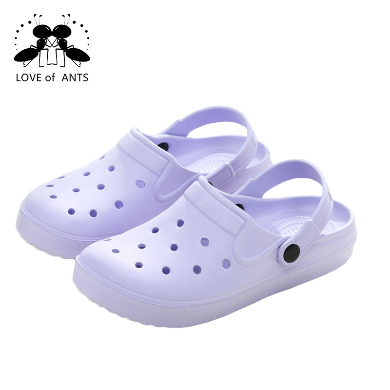 New arrival good quality outdoor comfortable closed toe garden hole slippers