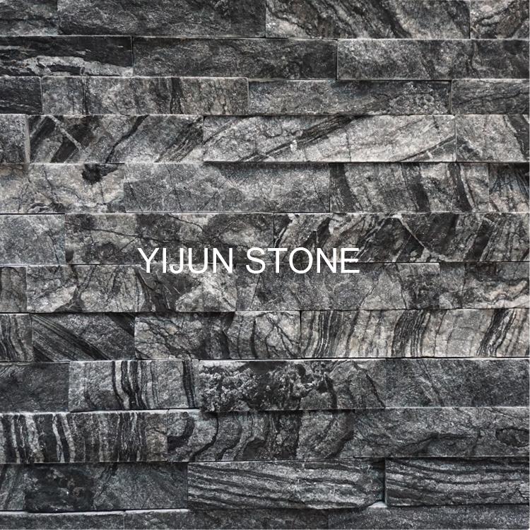 YIJUN STONE/ Natural stone/ Cultured stone/ black wall stone/ fireplace stone stone