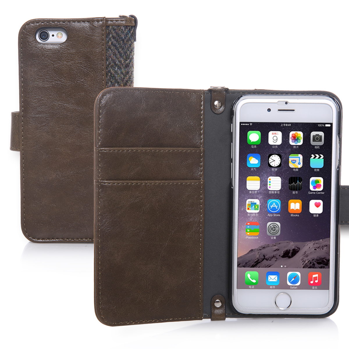 Harris Tweed iPhone 6 Case, Hard PC+ Premium Cotton Material Wallet Phone Case