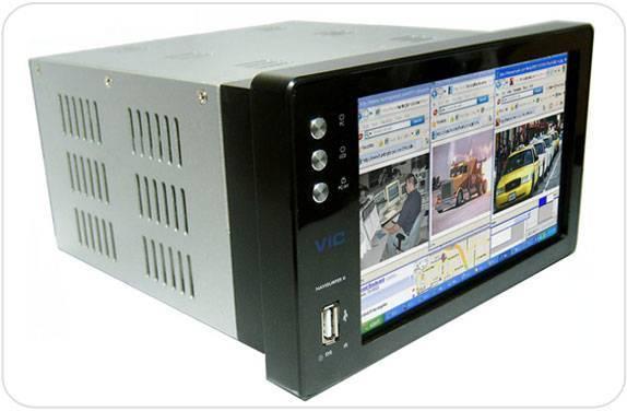 Navisurfer II EC Double DIN Car PC with FM Radio, DVB-T, Analog TV & DVR System (Intel Atom 1600 Mhz