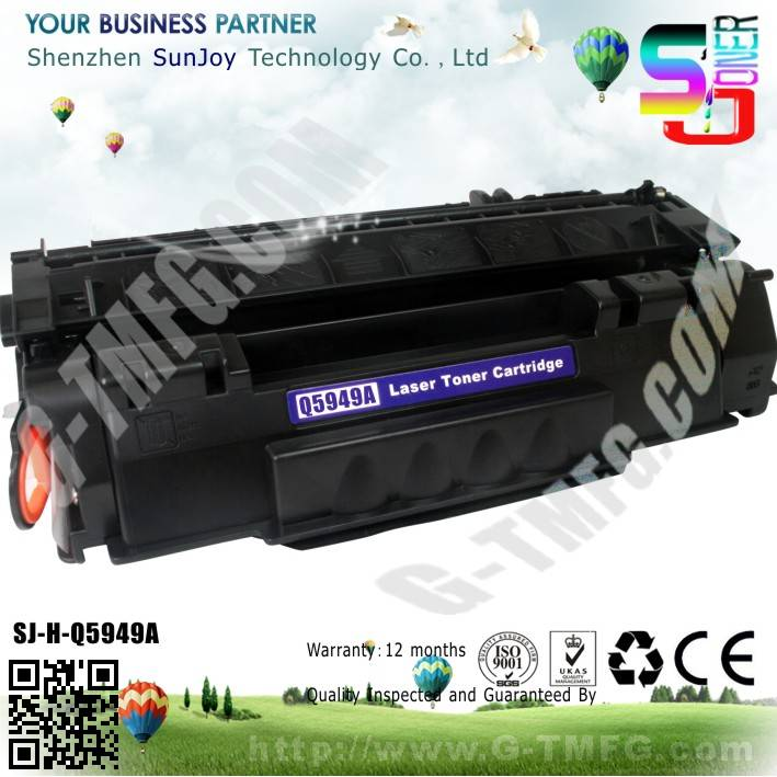 Sunjoy 49A toner cartridge Q5949A compatible for HP Laserjet 1160 1320 3390 3392