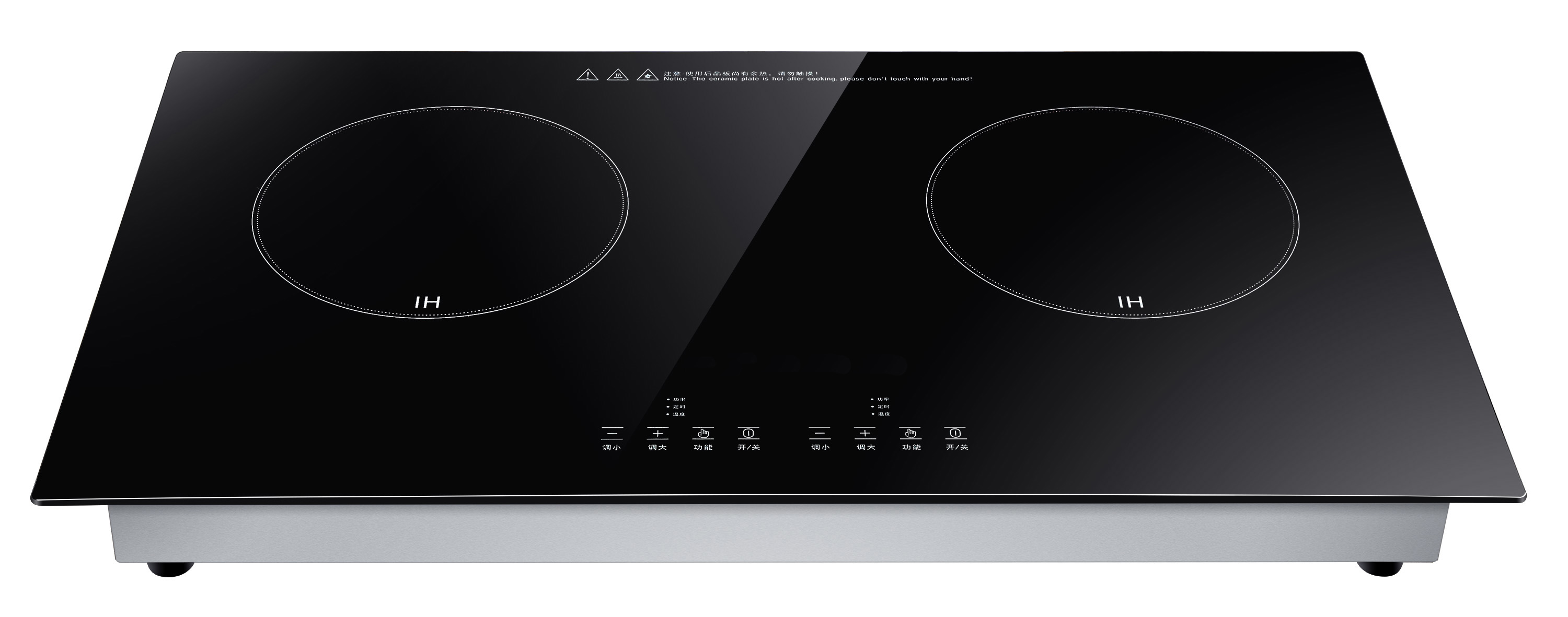 4000W Black Crystal Plate commercial induction cooker