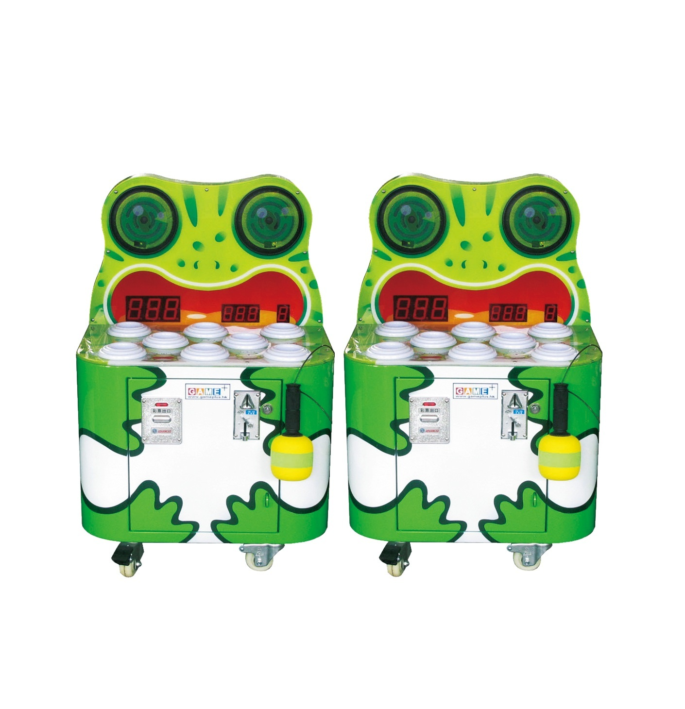 Coin operated Happy frog hammer arcade game machines