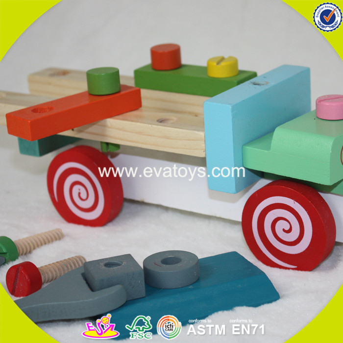 2017 best design educational children wooden toy screws for sale W03C026