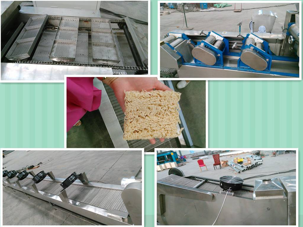 food factory customized frying instant noodle machine