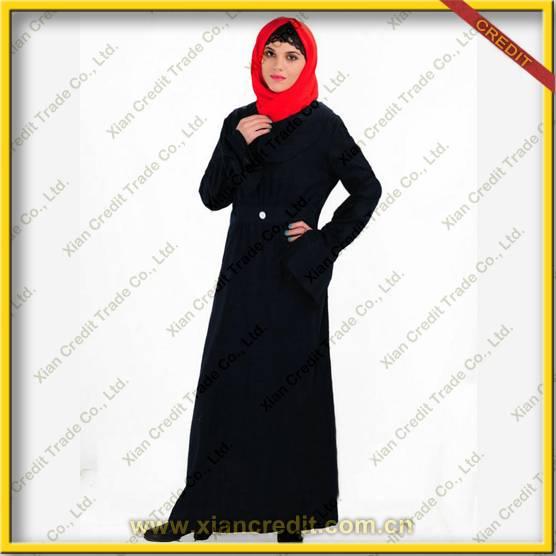 2014 Newest muslim women abaya made of Cotton & Linen KDT - 1010