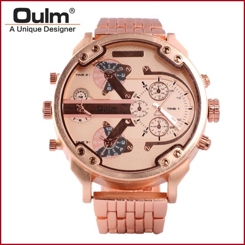 alloy belt dual time zone men watch fashion design watch