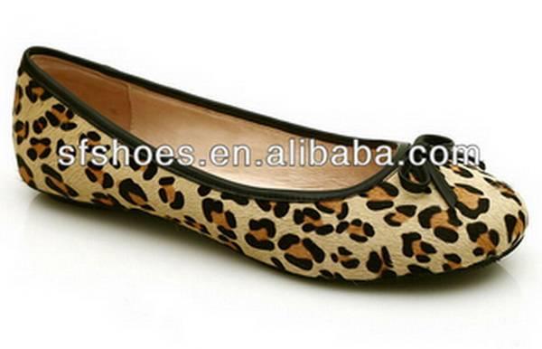 2015 fashion leopard print design flat shoes for women