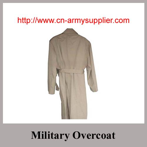 Wool Acrylic Polyester Army Military Wool Overcoat