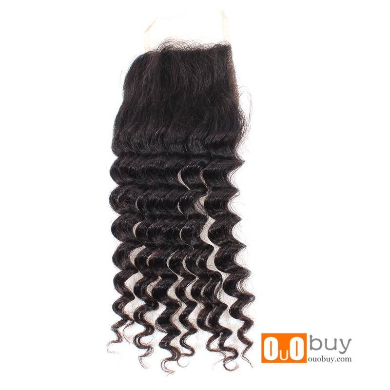 OUOHAIR High Quality 5A Grade Brazilian Hair Closure With Good Price