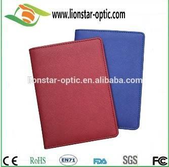 wedding favor gift customized pu leather passport holder/ honeymoon trave ticket holder id holder Ch