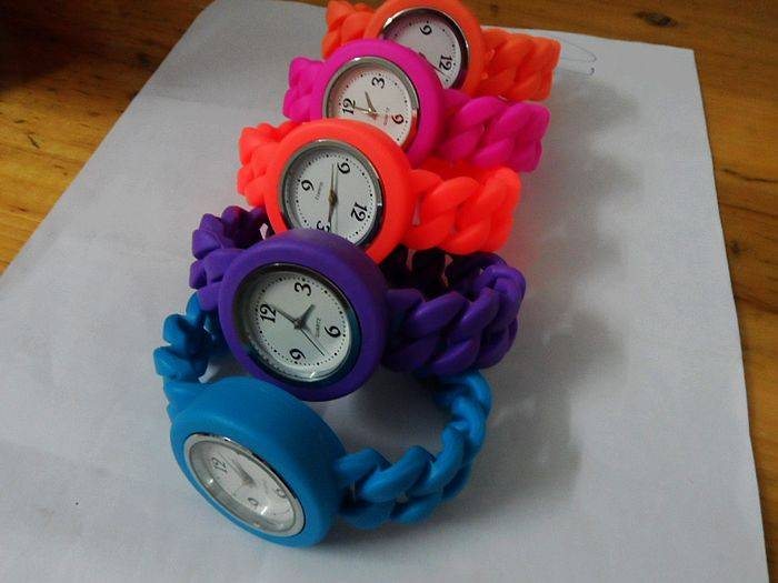fashion food grade silicone watches