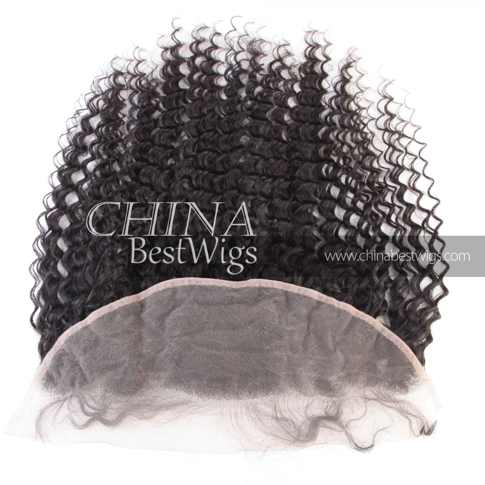 deep wave Indian hair lace wig frontal