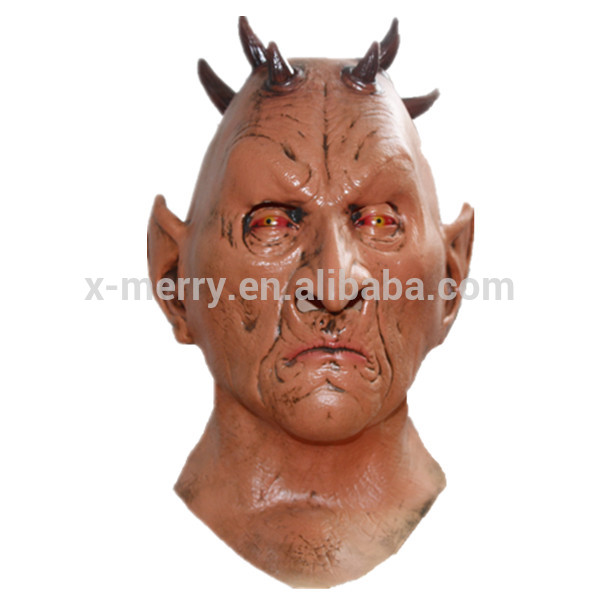 X-MERRY TOY Scary Six Horned Monster Latex Mask Fits Halloween Toys Party Fancy Dress x14038