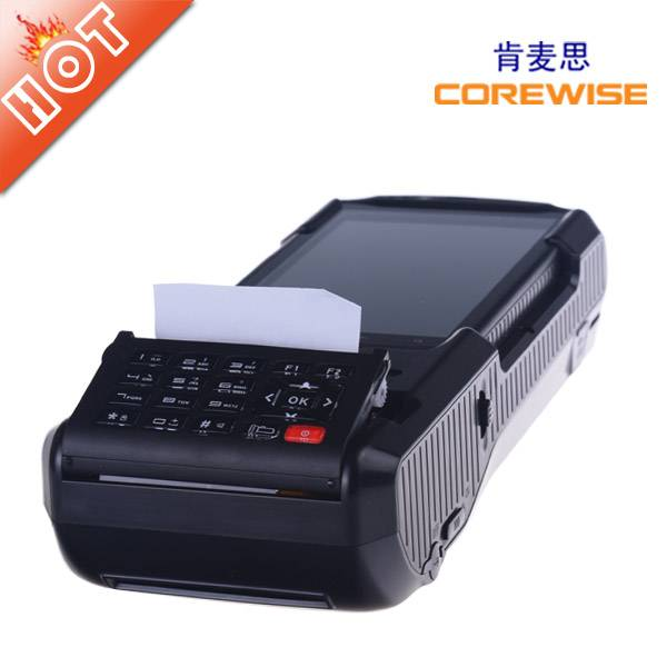 portable wireless Android pos terminal with thermal printer,RFID,fingerprint----CP810