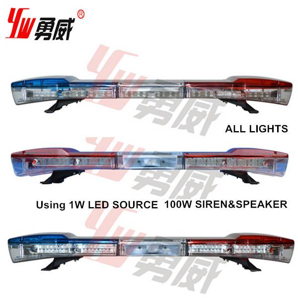 1200mm length amber color led vehicle emergency lightbar