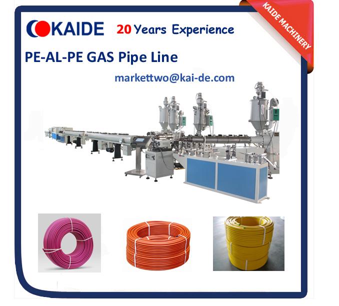 Overlap welding PEX-AL-PEX composite pipe extrusion machine